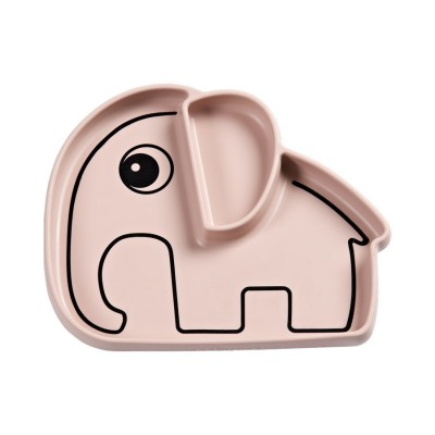 Assiette Elephant Powder Pink