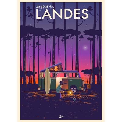Affiche Clavé les landes