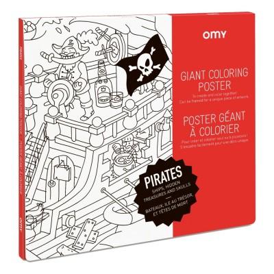 Poster à colorier Géant Pirates