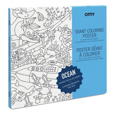 Poster à colorier Géant Océan
