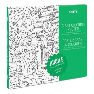 Poster à colorier Géant Jungle