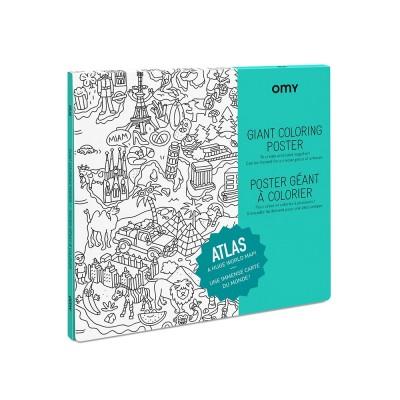 Poster à colorier Géant Atlas