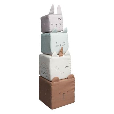 Cubes Animaux en Tissu