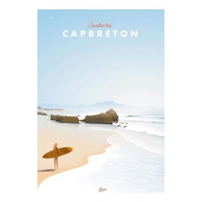 Affiche Clavé Santocha Capbreton