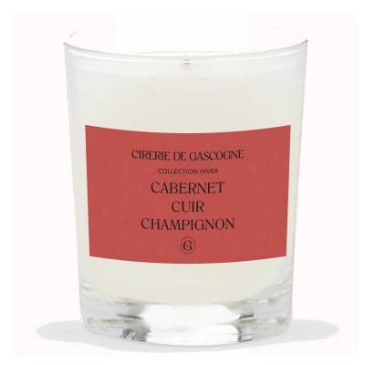 Bougie Cabernet - Cuir - Champignons