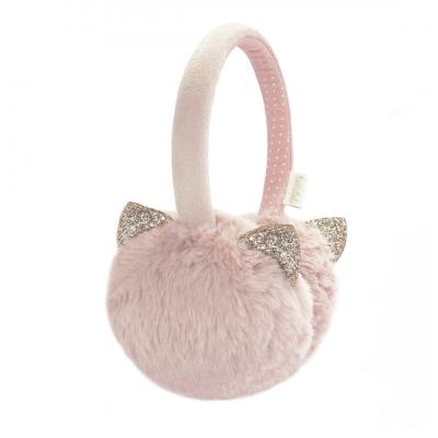 Cache-oreilles chat rose