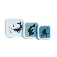 Lunch Box Sea Animal Set de 3