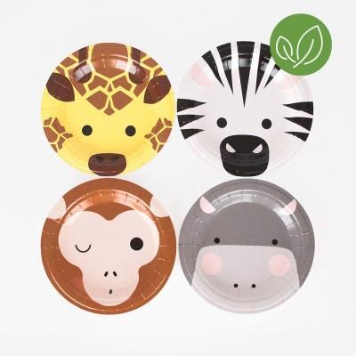 8 petites assiettes safari
