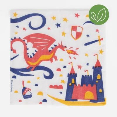 20 serviettes chevalier