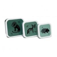 Lunch Box black Animal Set de 3