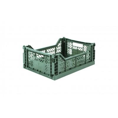 Caisse de rangement Midi Almond Green