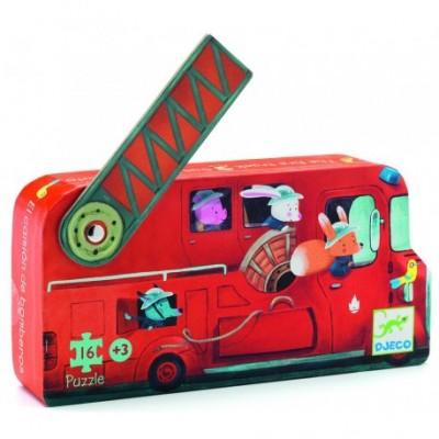 Puzzle Le Camion de Pompier 16 p