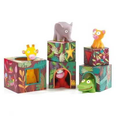 5 cubes et animaux maxi Topanijungle
