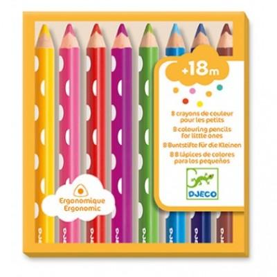 8 crayons de couleurs pour les petits