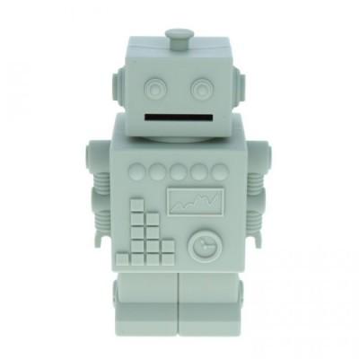 Tirelire Robot Gris